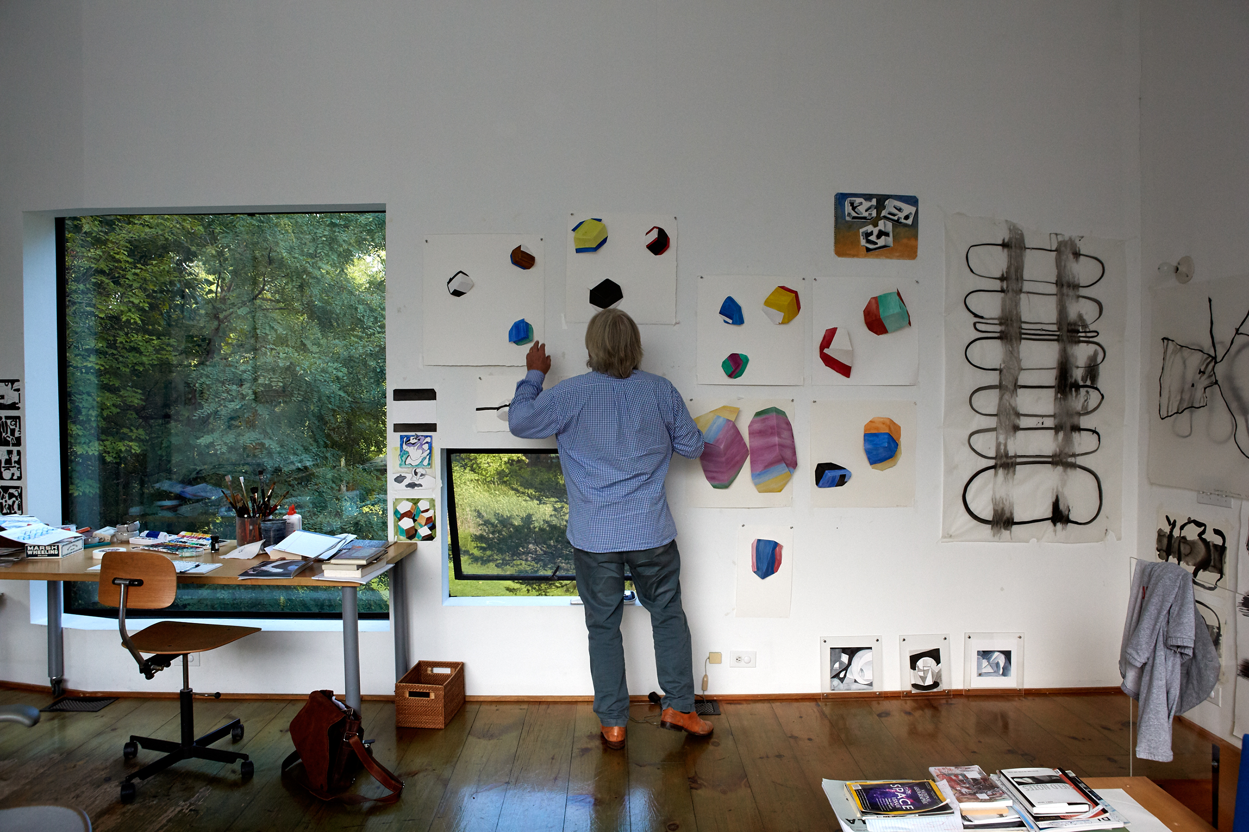 Holl at work in his studio.