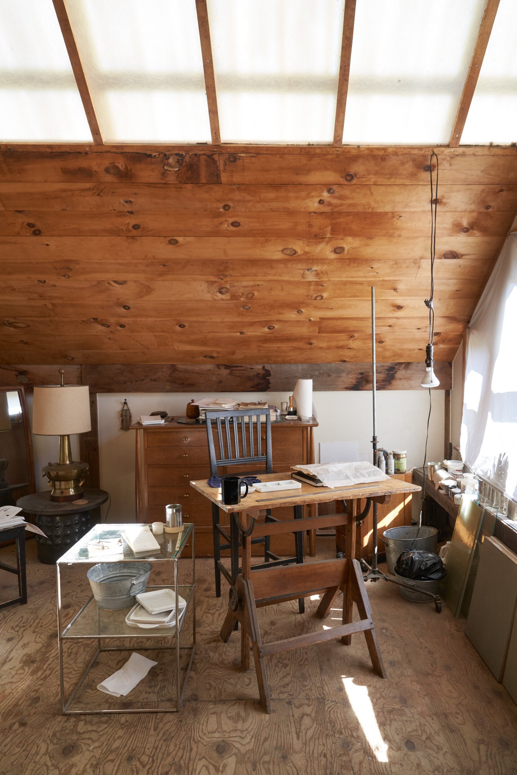 Work space in the barn.