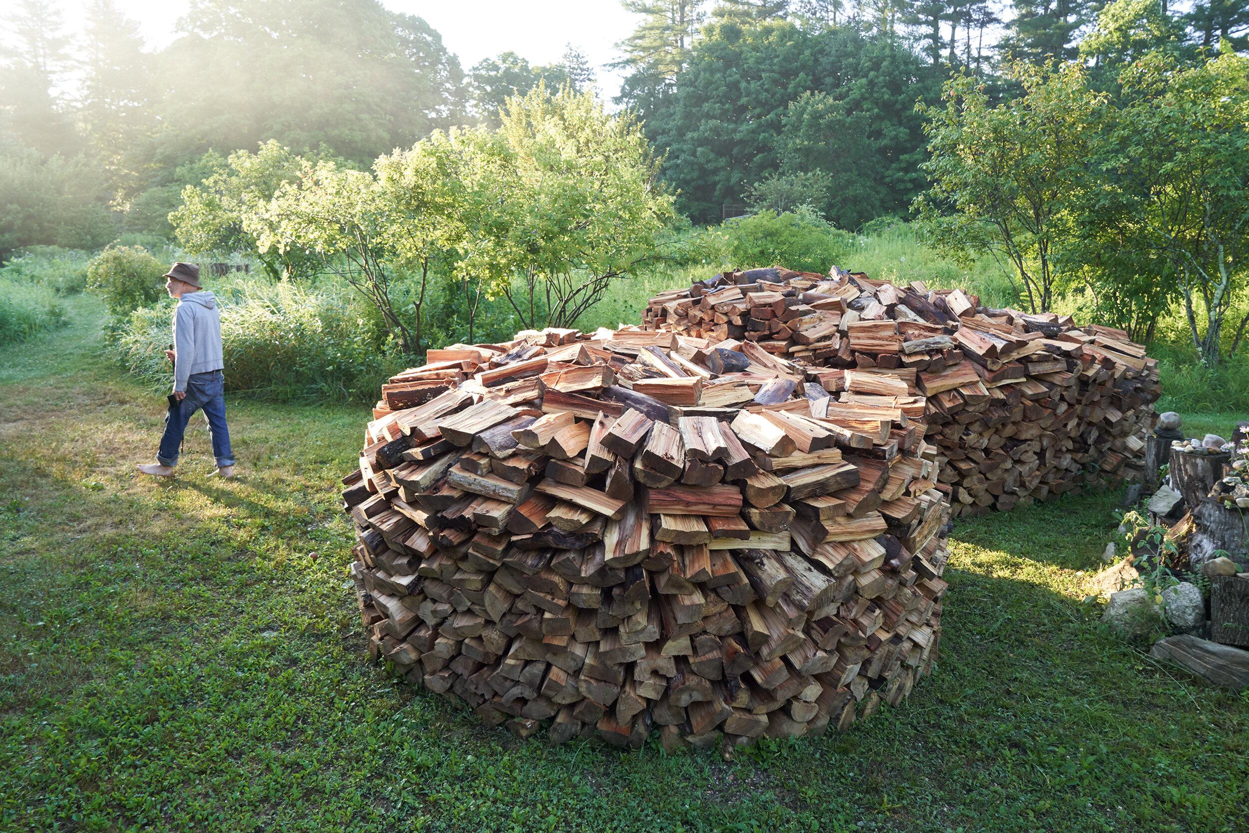Wood stacks.