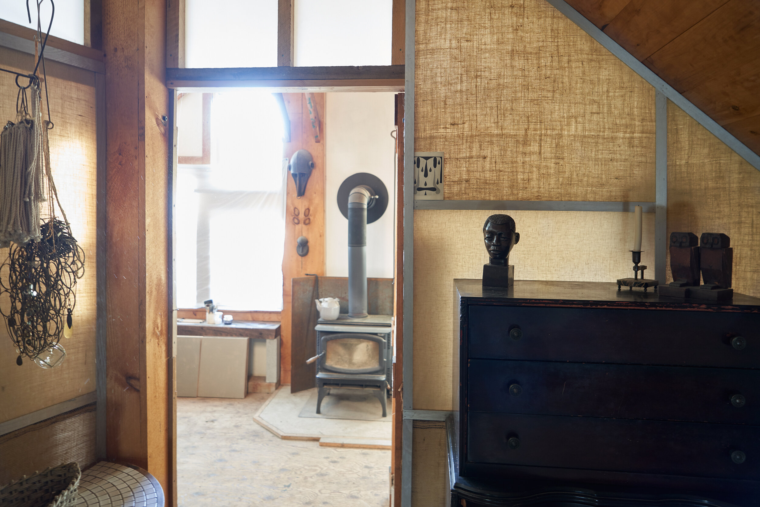 Work space in the barn. Vignette in homage to Derek Jarman.