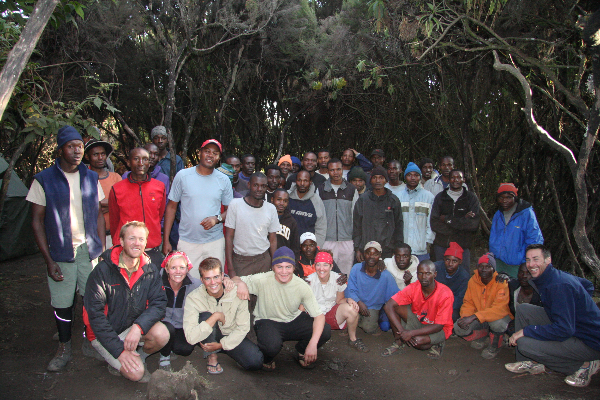Kilimanjaro  On this trip, we built a chicken coop for orphans in Rhotia Valley and went on Safari in NgoroNgoro Crater. We also trekked a seven day Machame route of Kilimanjaro.