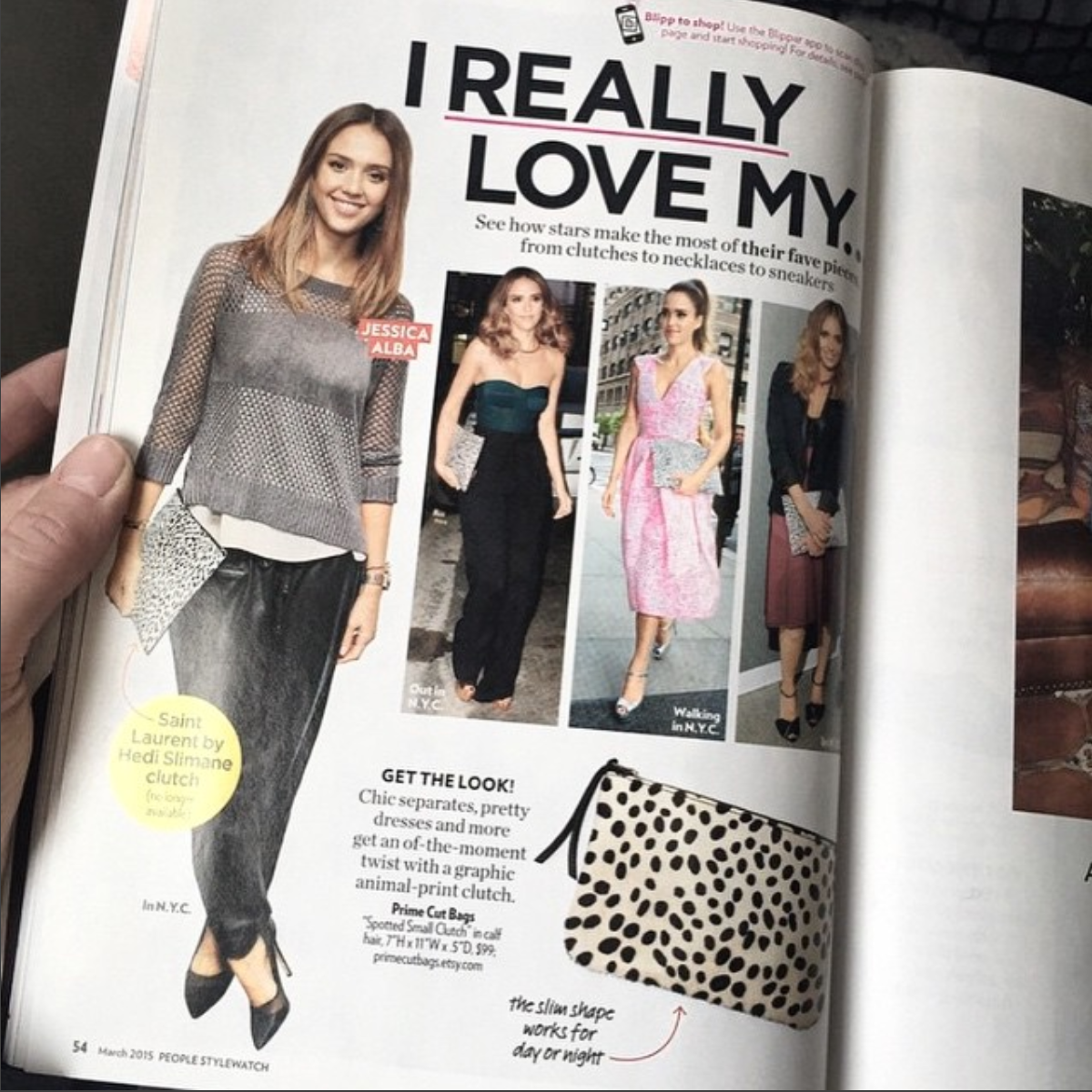 Spotted Cowhide Bag People Magazine