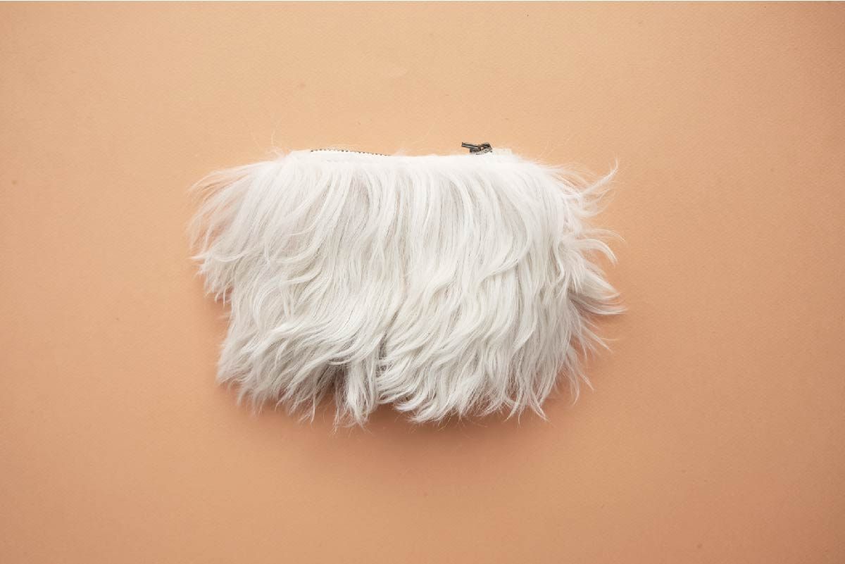 sheep fur clutch