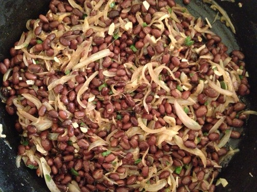 Once you add your beans,you're off to black bean land.