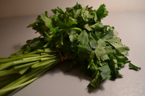 And 1/4 cup of parsley.