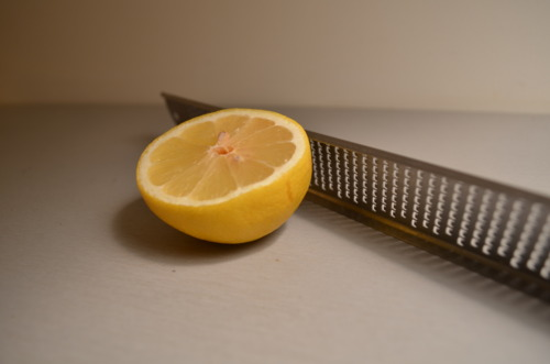 Also, the zest and juice of one lemon.