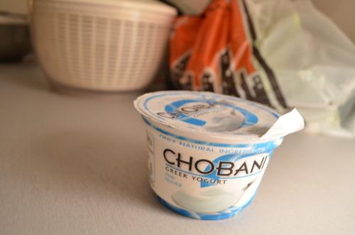 Plain Greek yogurt, use it up.