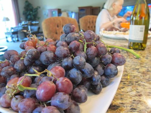 We put Grandma to use cuttingup fruit.
