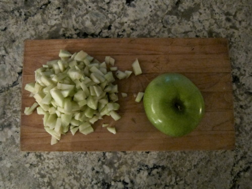 1 chopped apple for sweetness.