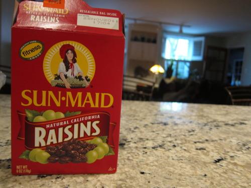 Raisins for sweetness.
