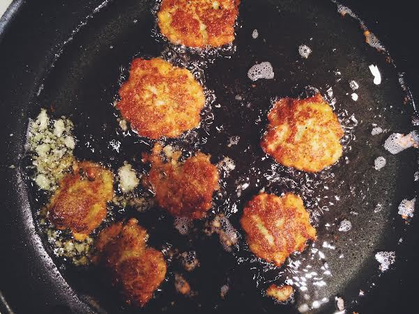 Beginning to feel better about life with latkes.