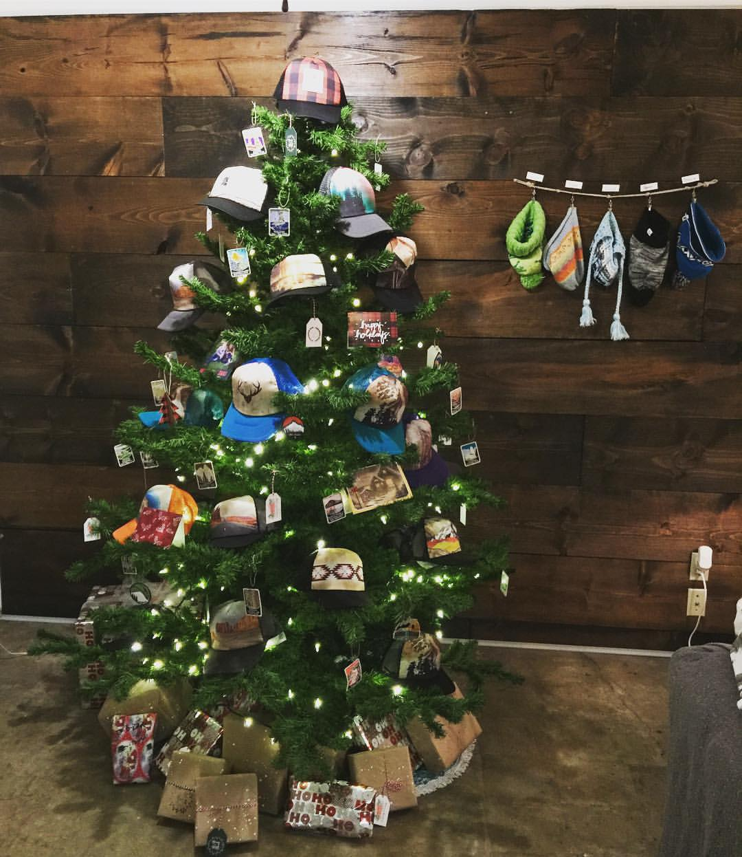 Heidi Michele hats and patches make for great Christmas tree decorations.