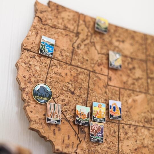 Look at this cool cork map by Geo 101 Design!
