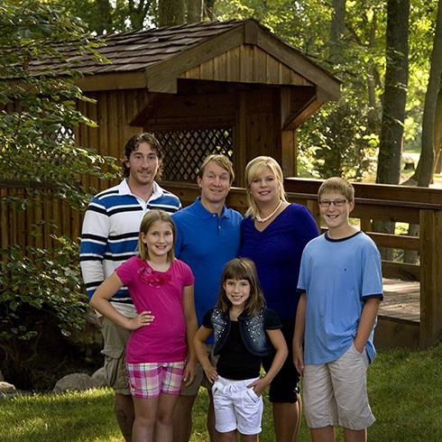 Dalton, Craig, Patti, Derek, Ashley, and Morgan September, 2013
