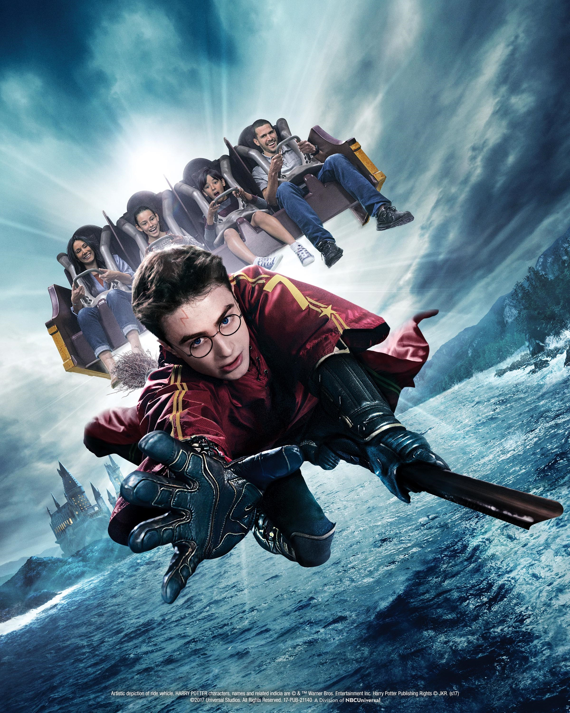 """""""Harry Potter and the Forbidden Journey"""" thrill ride located within Hogwarts castle at """"The Wizarding World of Harry Potter"""" at Universal Studios Hollywood"""