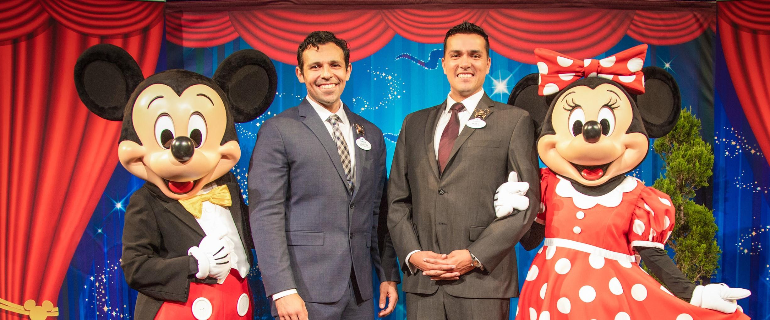Disneyland Resort 2019-2020 Ambassador Team In a tradition dating back to 1965, Disneyland Resort President Josh D'Amaro announced that cast members Justin Rapp and Rafa Barron will represent the Disneyland Resort and its 30,000 cast members as the 2019-2020 Disney Ambassadors. (Disneyland Resort)