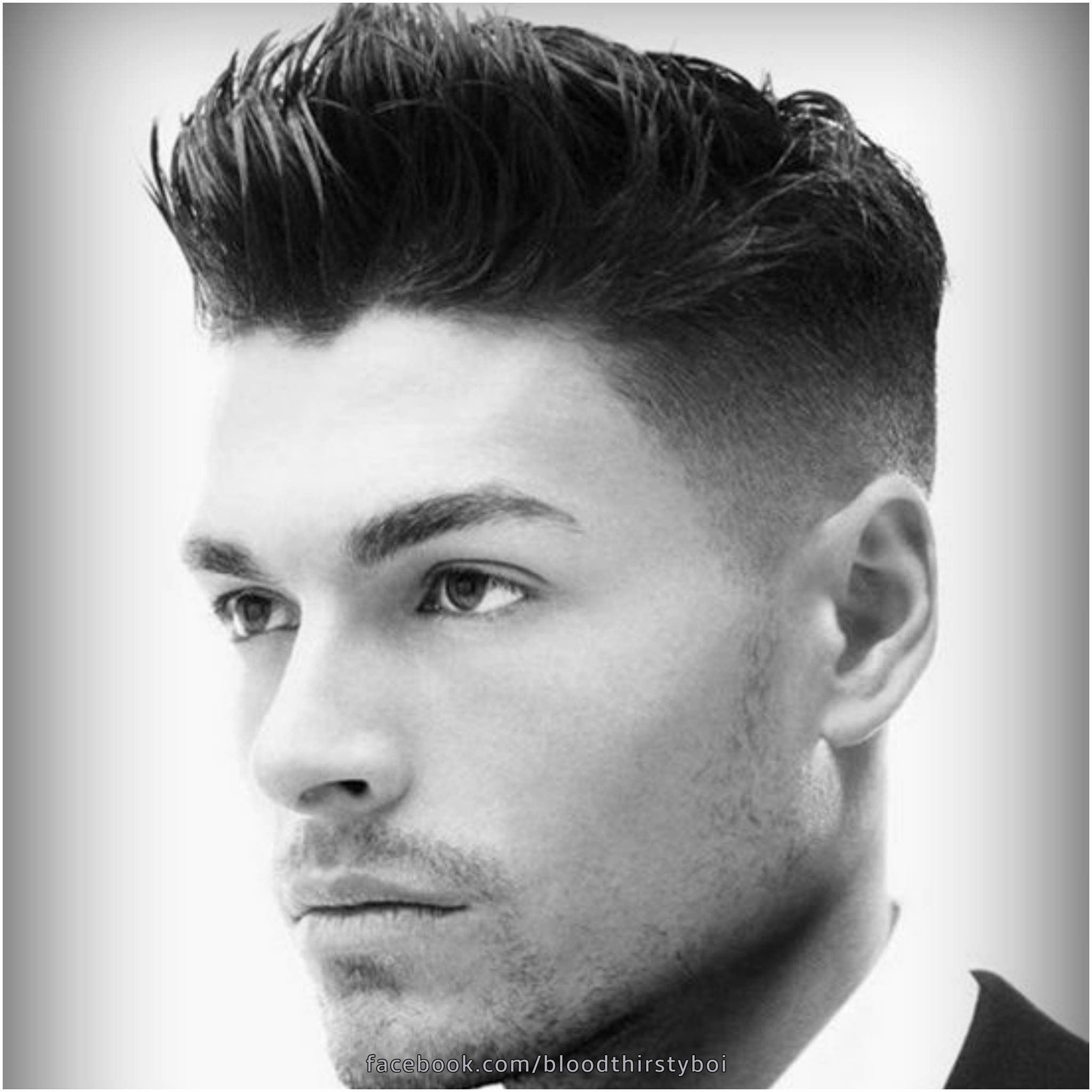 Hair Reference  Pompadour with shaved sides color: black