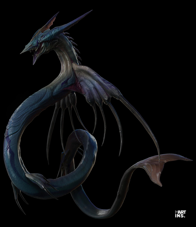 Final Fantasy Leviathan, example of creative fantasy eel design