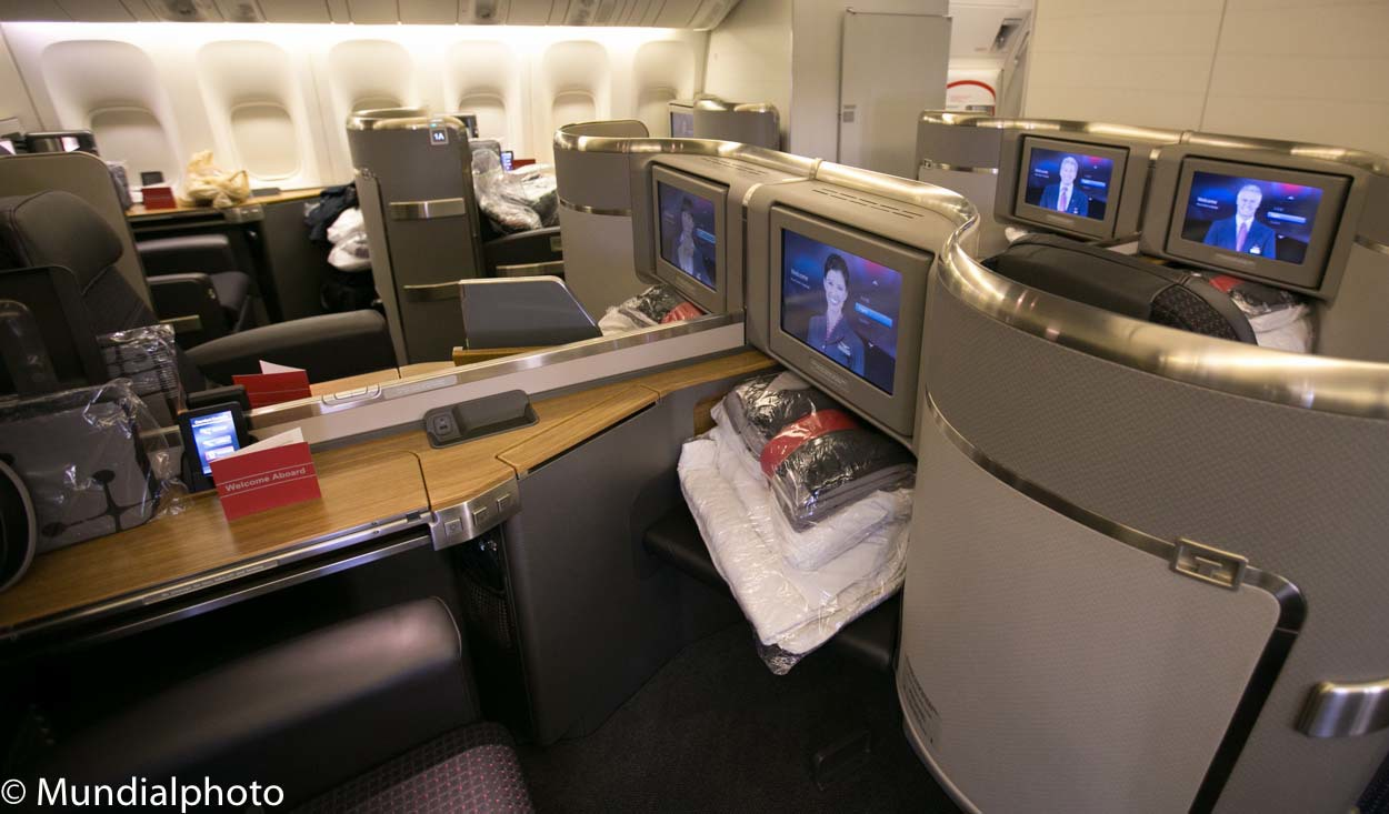 First Class seating on AA's 777-300
