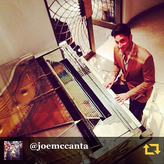 "RG @joemccanta: ""Why yes, the Dorcheter, I'd LOVE to have a go on Liberace's custom made gold and mirrored piano...#lovemyjob #regramapp"