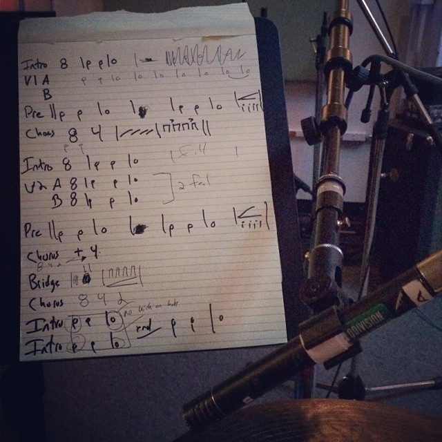 Chart for session today-#whateverworks #vicfirth #newmusic #somerville #americana