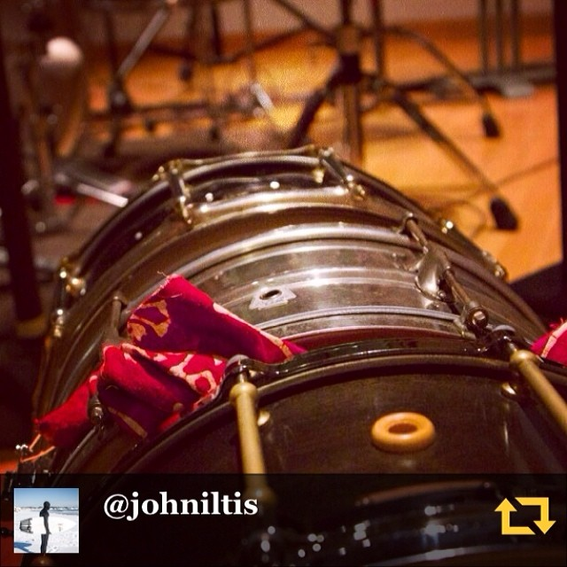 RG @johniltis: Last weeks snare line up in the studio. Pearl Steve ferrone , 1942 wfl, and my custom eames. All 6.5/14. Thanks @ahjonesmusic for the loaners! #regramapp