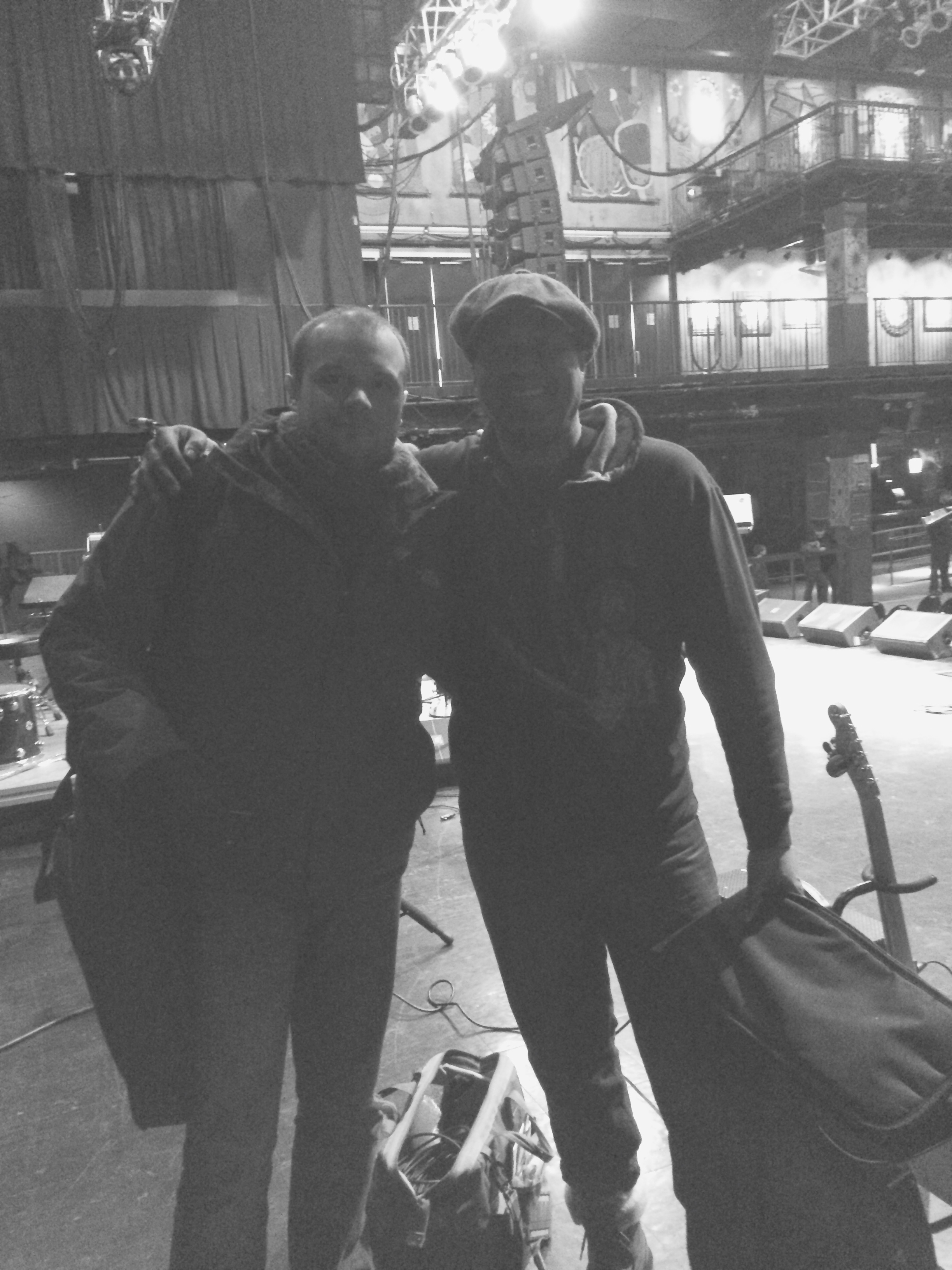 Wille and I after a gig at the House of Blues Boston.