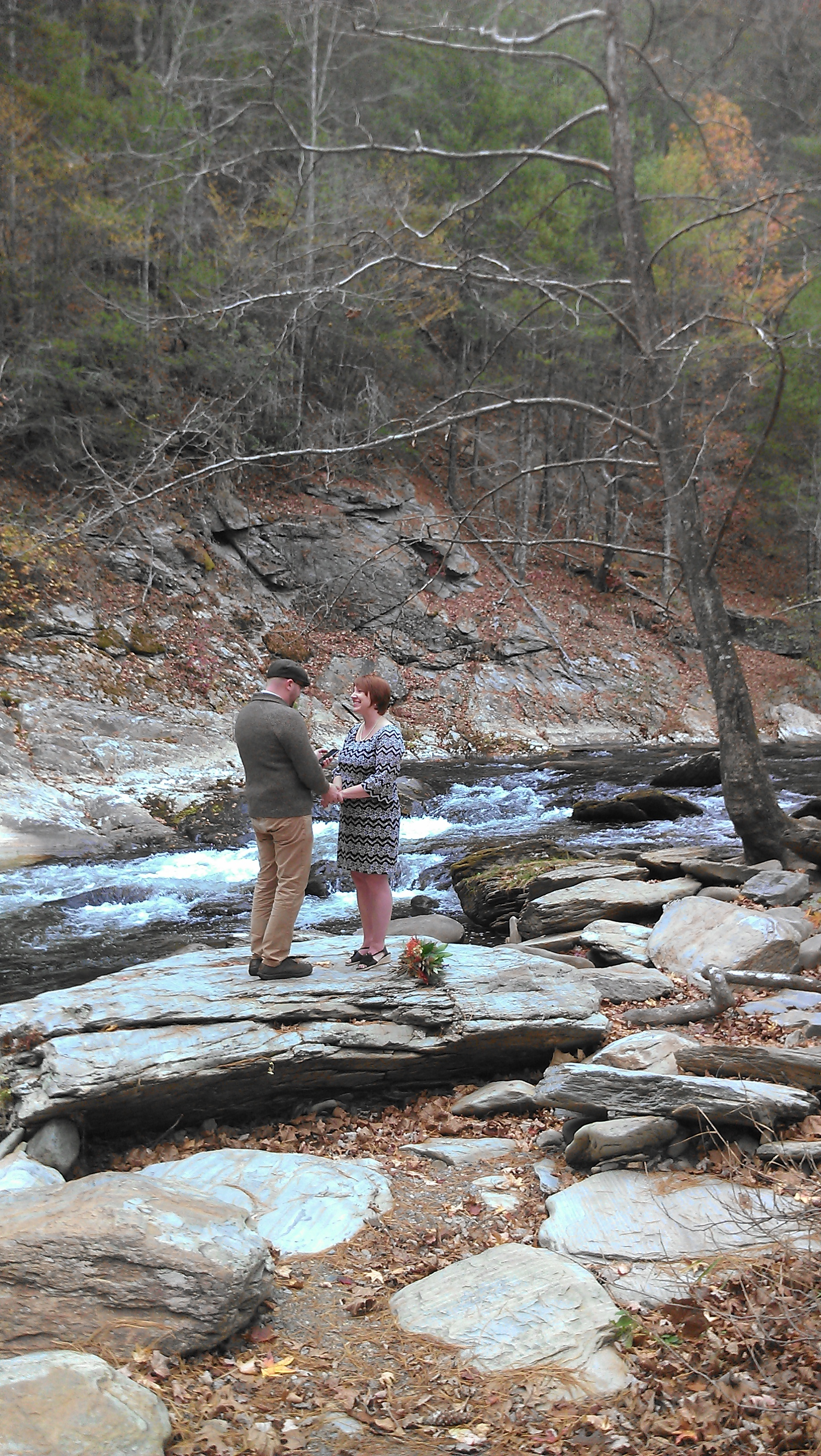 We privately said our own vows to each other in a beautiful spot near Bald River Falls.