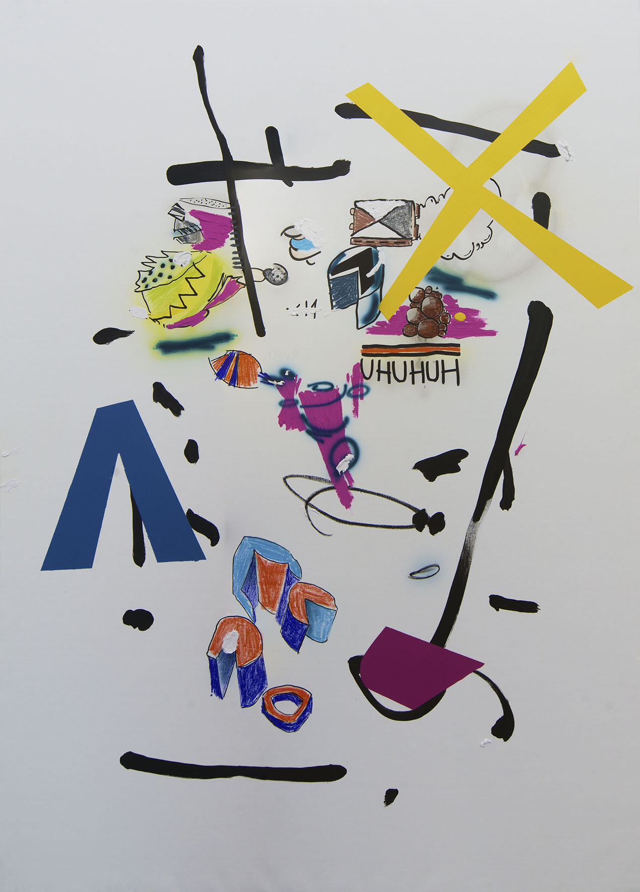 Axo 195x138 mixed on canvas