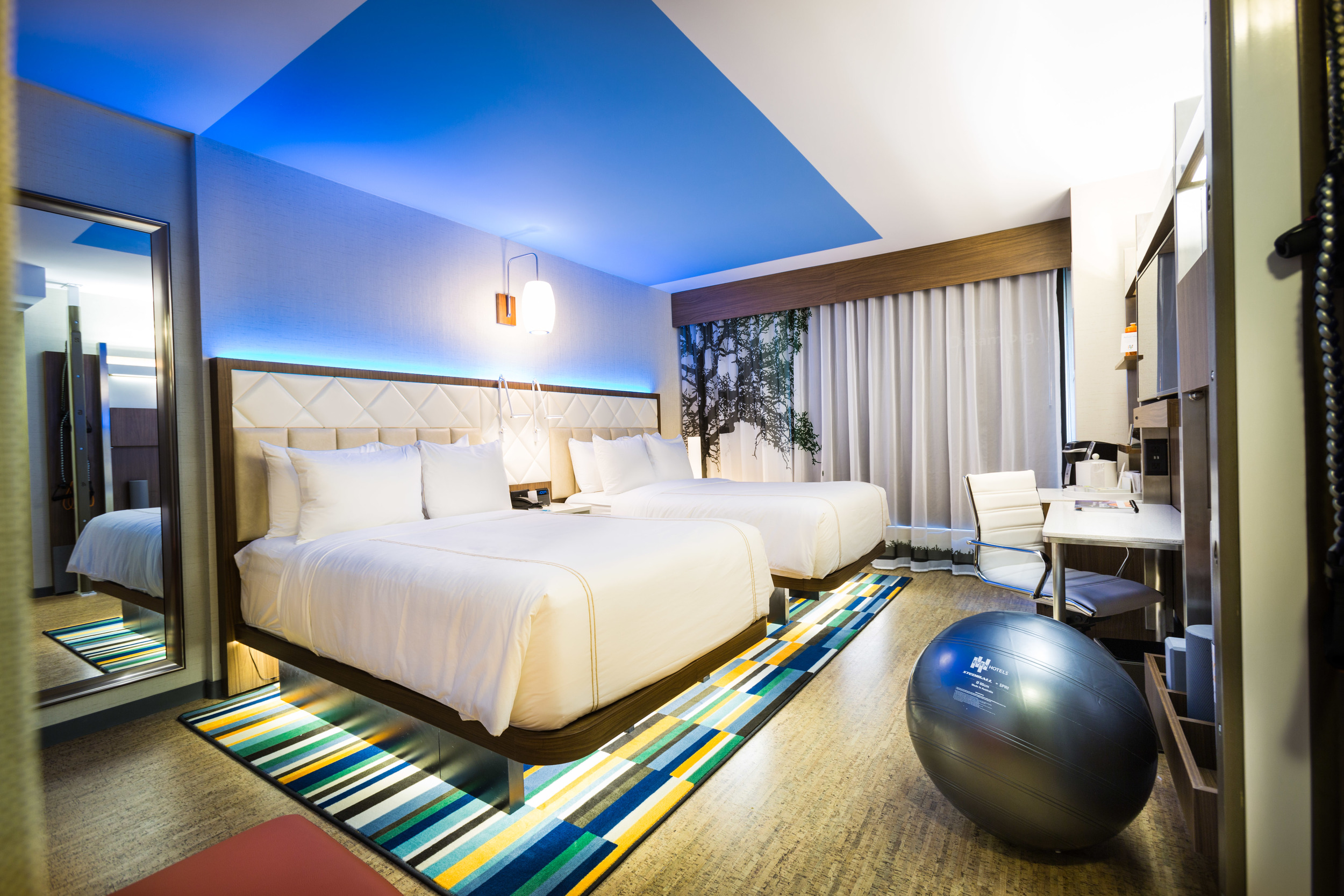 A room in the new EVEN Hotel Times Square South.