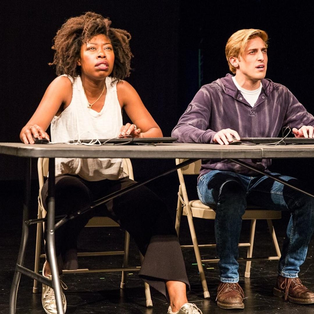 "Akyiaa Wilson and Michael DeBartolo in ""Did You See?"" Photo by Al Foote III"