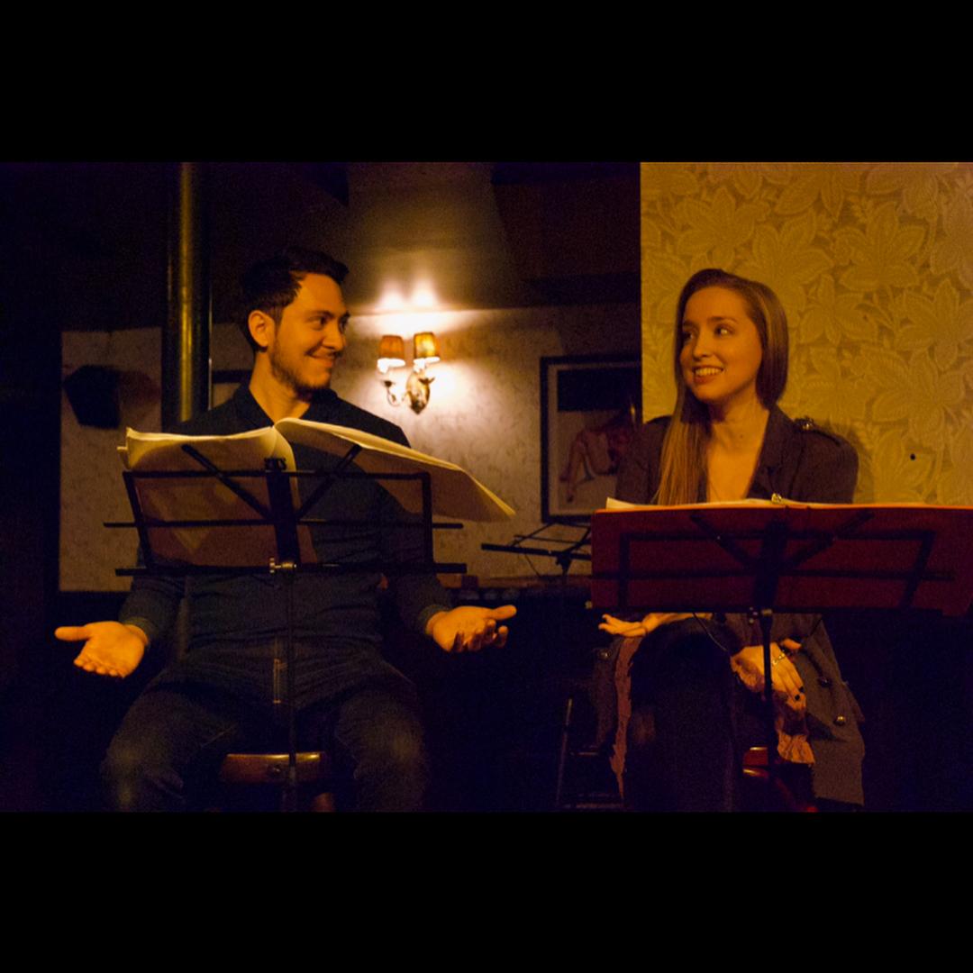"Cesar Muñoz and Linda Elizabeth in ""Earlybirds."" Photo by Allison Porta"