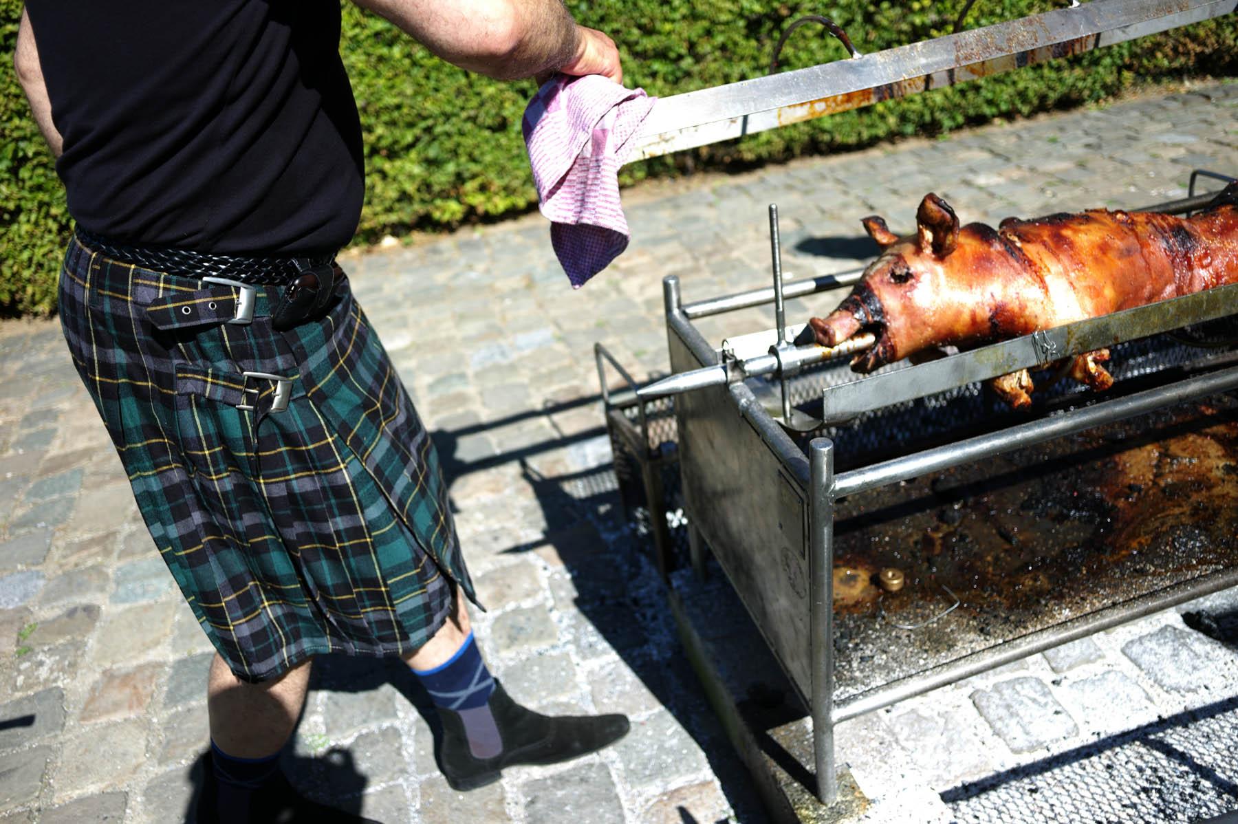 Schots Weekend - Varken aan het Spit