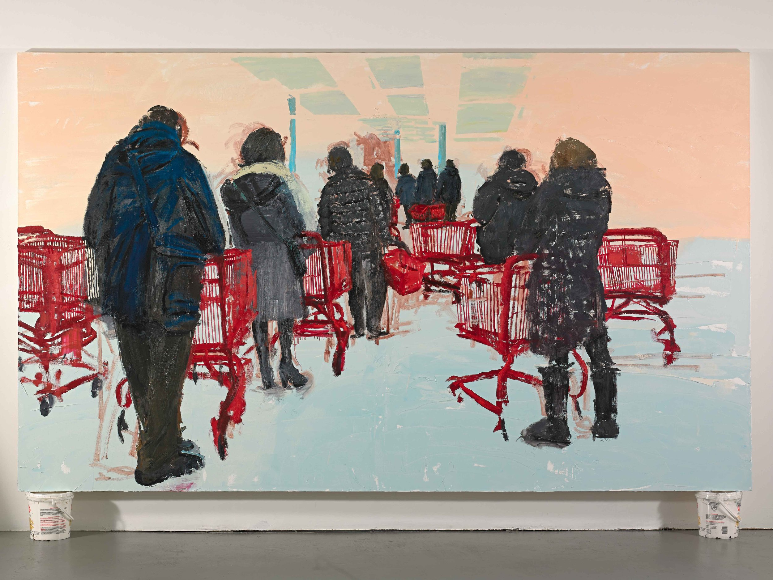 "Trader Joe's, 72""x120"", oil on canvas, 2013"