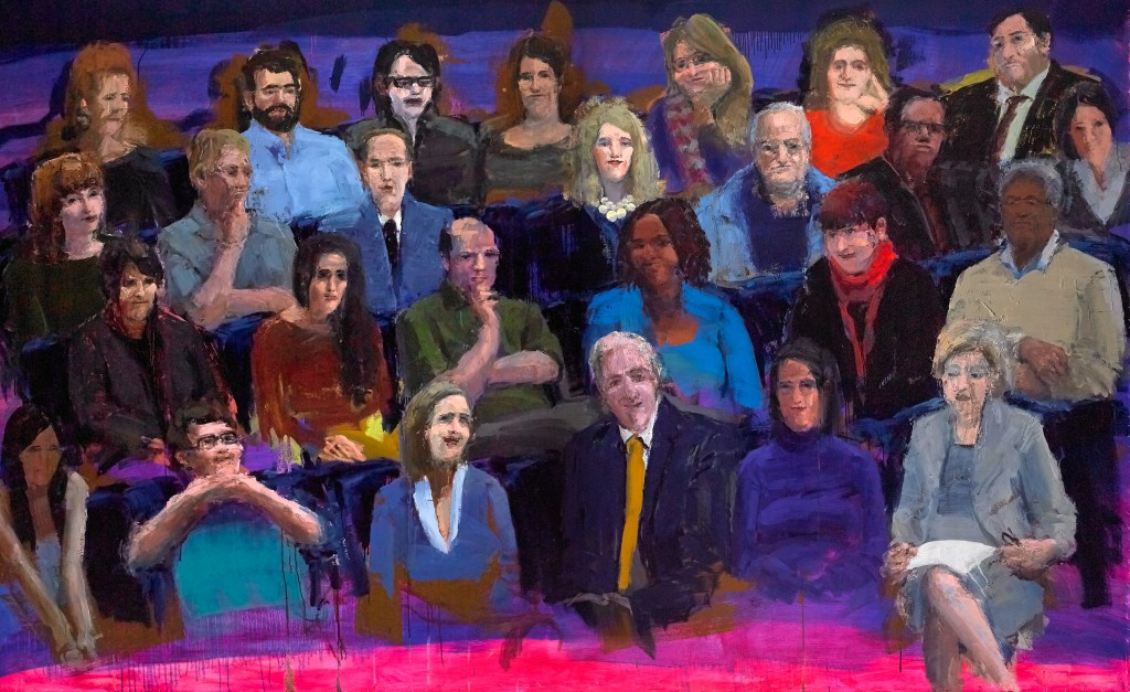 "TED Audience, 96""x144"", oil on canvas, 2015"