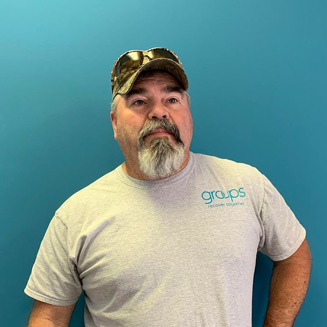 """Joe, Counselor in Indiana - """"I've been in recovery for 20 years. I belong here. This is where I'm supposed to be. What keeps me at Groups Recover Together is the people. The lives we're helping to change."""""""