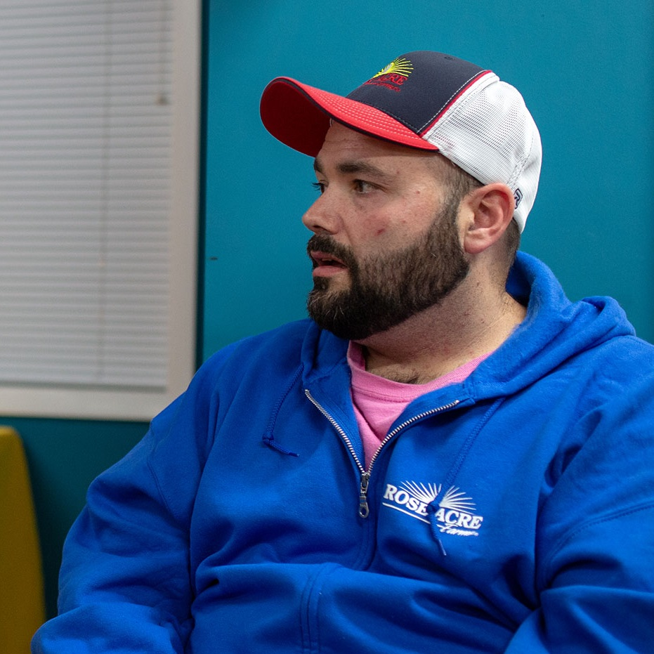 """Matt, Member in Indiana - """"I couldn't do it without this. I enjoy coming to group. I consider these guys my friends. They're wanting the same things I'm wanting [sobriety]. We look out for each other."""""""