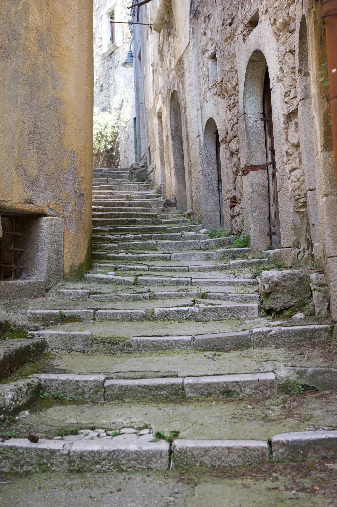stairs and narrow streets