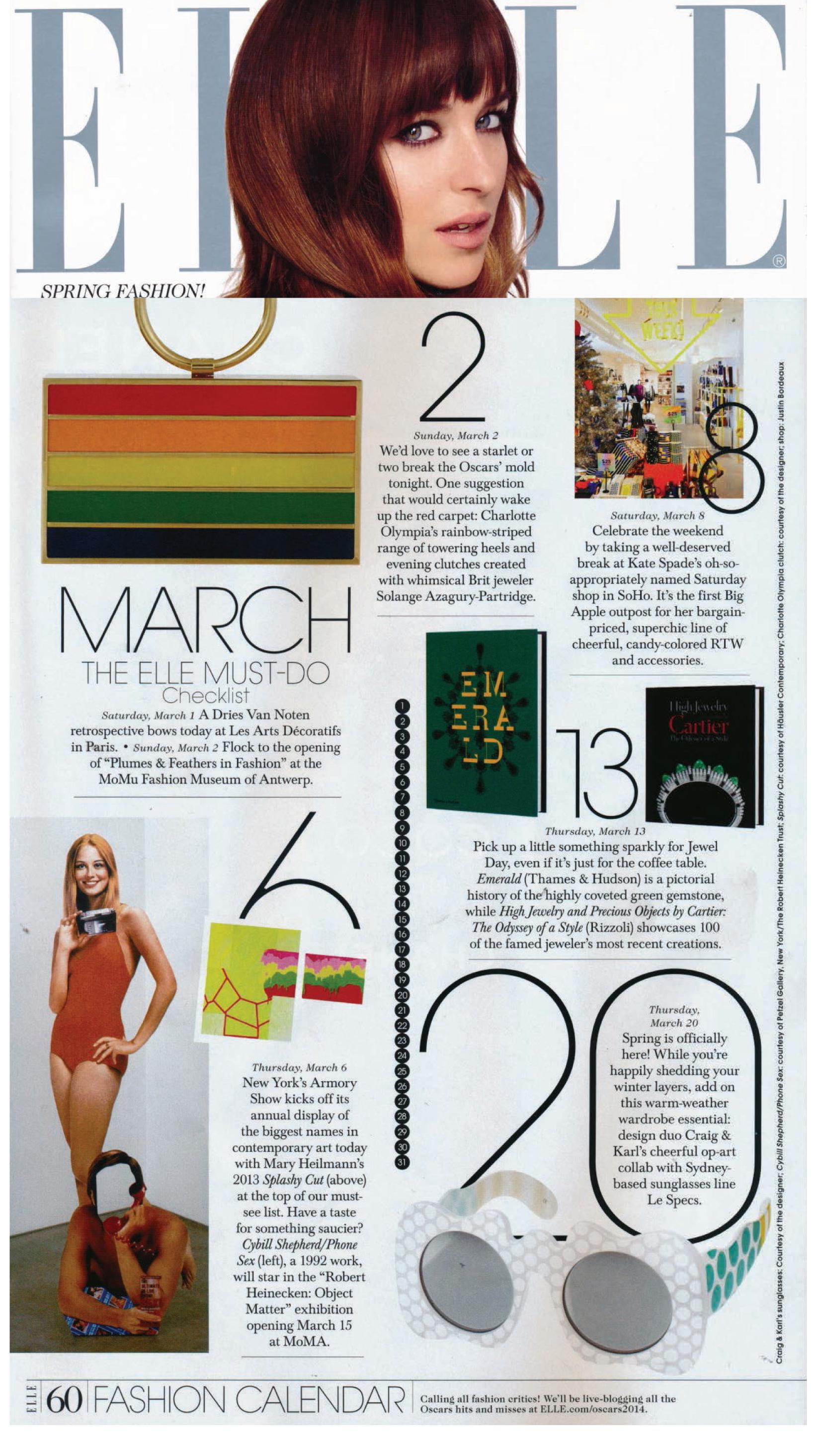 Elle UK March 2014