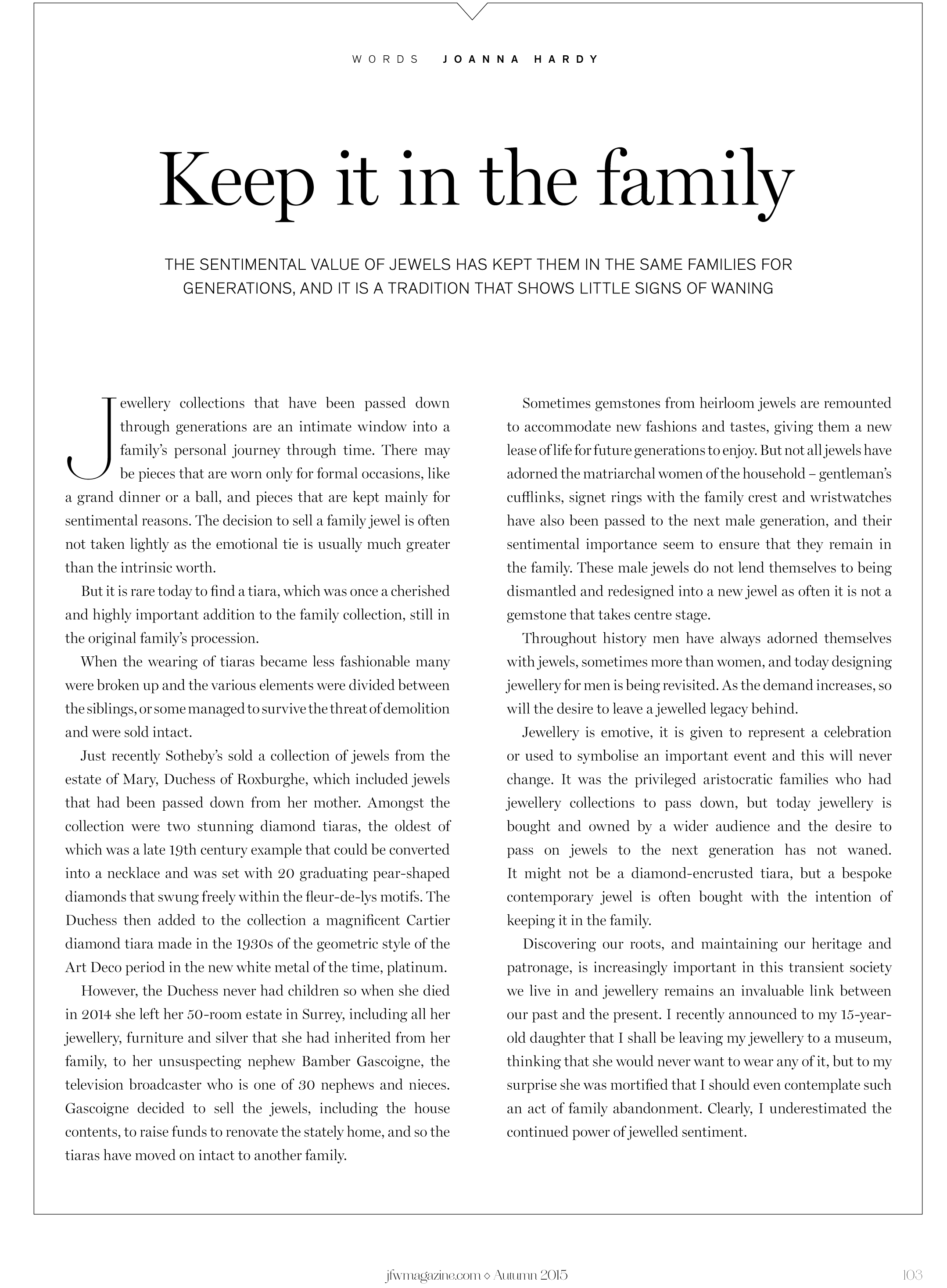 jfwmagazine.com | August 2015