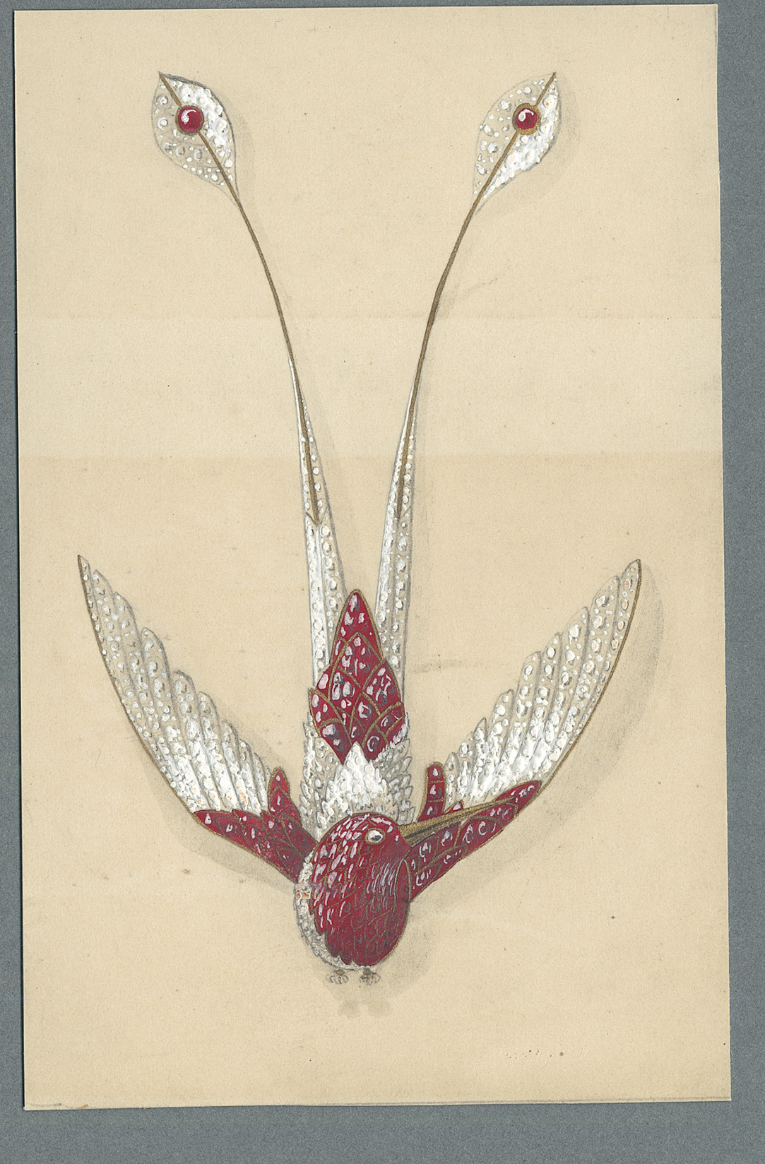 Design by Chaumet for a ruby and diamond Hummingbird Aigrette c1890  _© Chaumet_from RUBY_published 2017.jpg