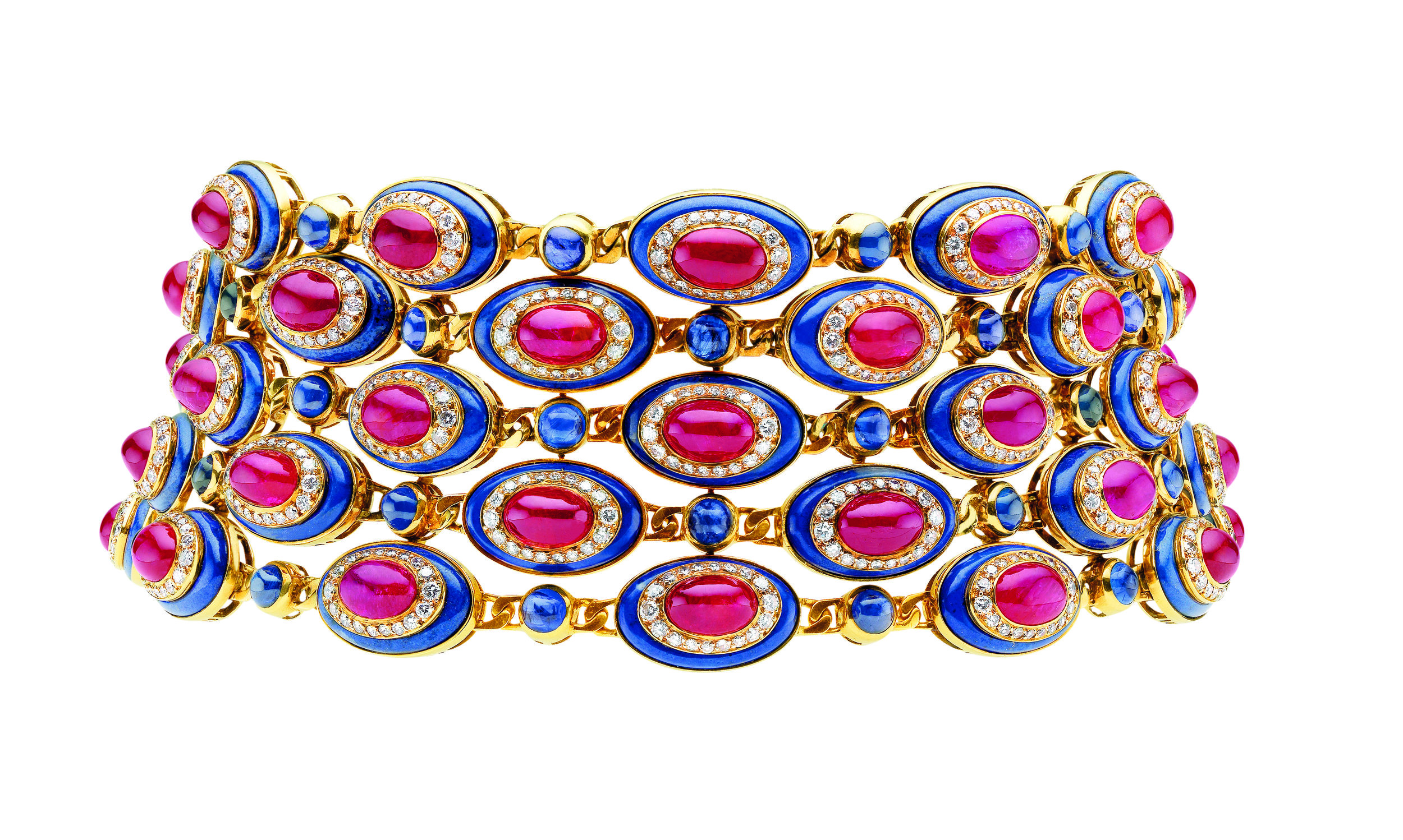 1979 choker by Bulgari with oval medallions of concentric cabochon rubies_© Bulgari_from RUBY_published 2017.jpg