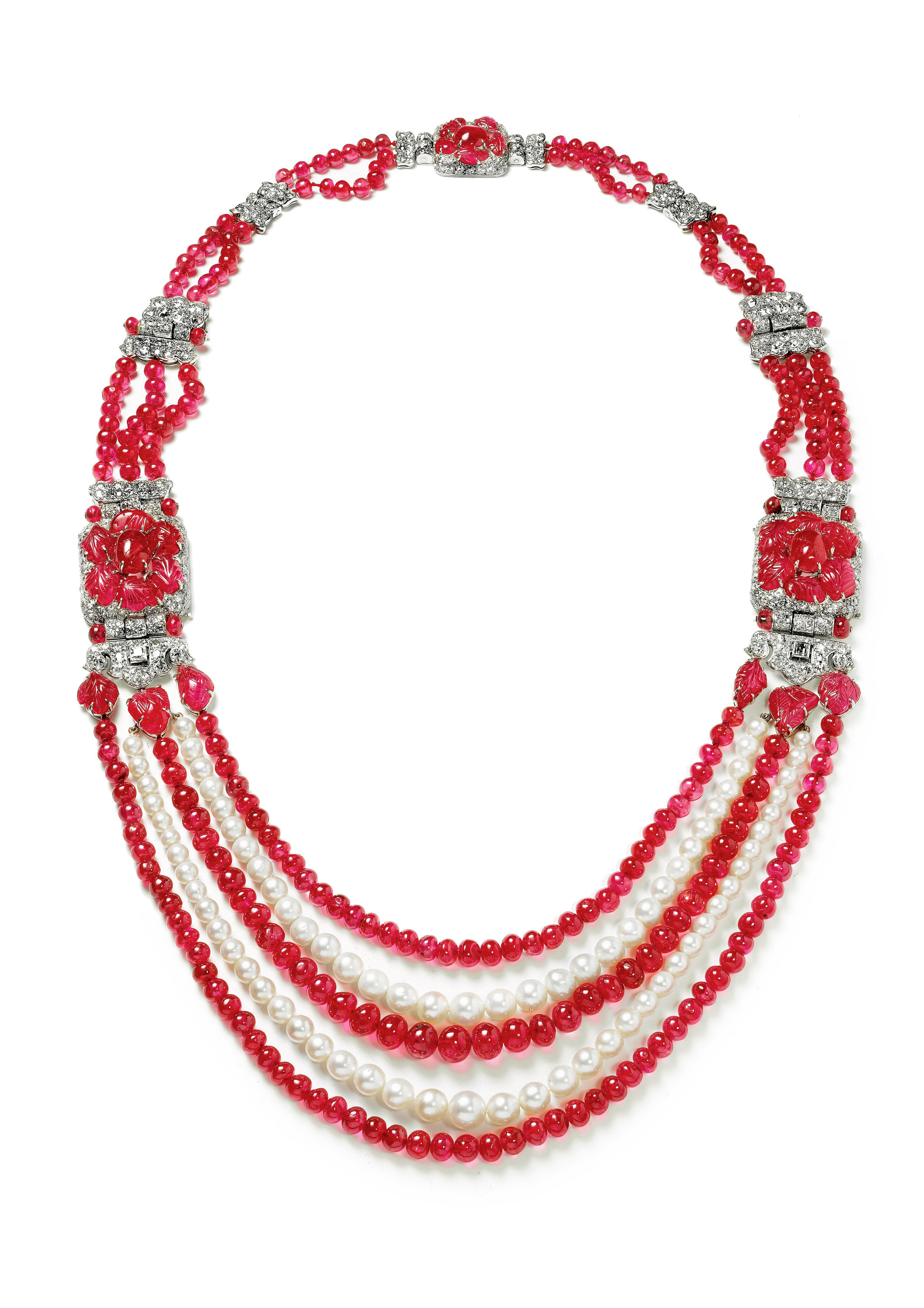 Indian style necklace made by English Art Works for Cartier London and commissioned in 1930 by Mrs C G Lancaster with 76 pearls_Photo by Nick Welsh_© Cartier_from RUBY_published 2017.jpg
