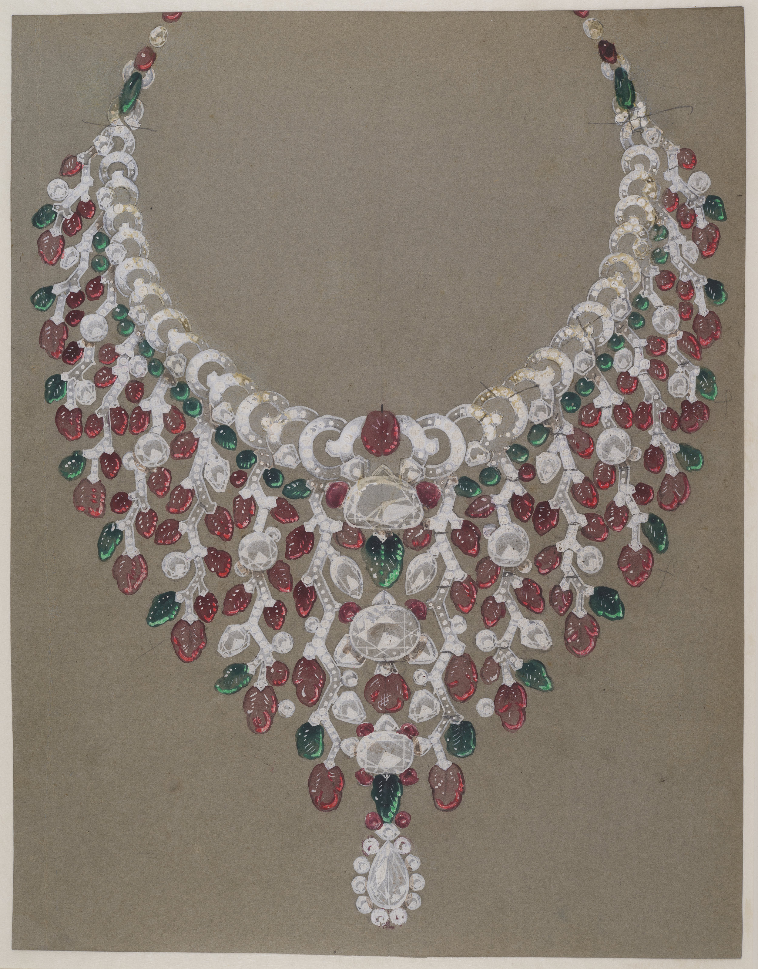 Drawing by Cartier in 1935 for a ruby and diamond necklace commissioned by the Maharani of Patna for her husband the Maharajah of Patna__© Van Cleef & Arpels_ from RUBY_published 2017.jpg