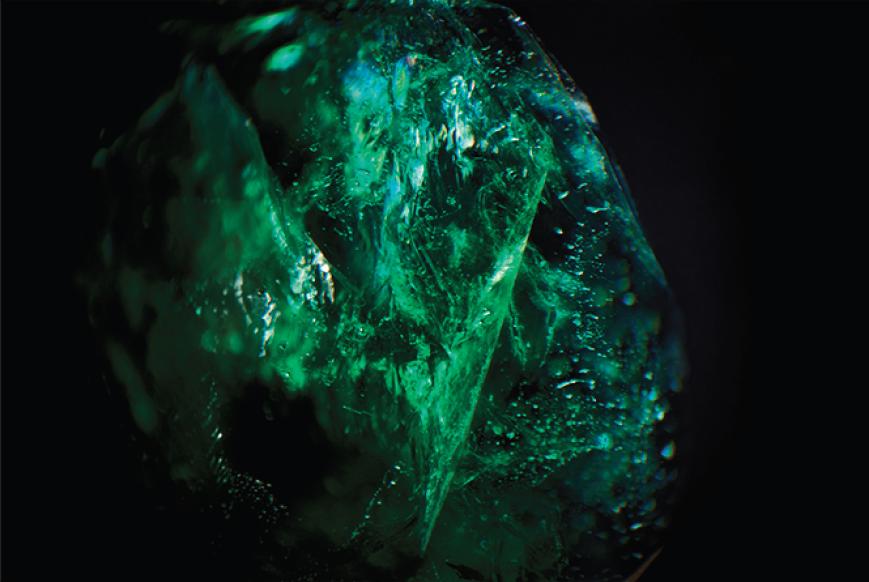 Dan Tobin Smith. Gemfields Zambian emerald inclusion.