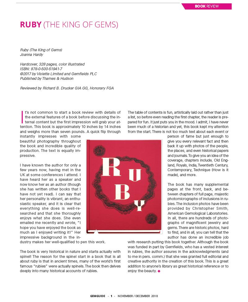 Ruby Review, Richard B. Drucker - Nov 2018, Gem Guide