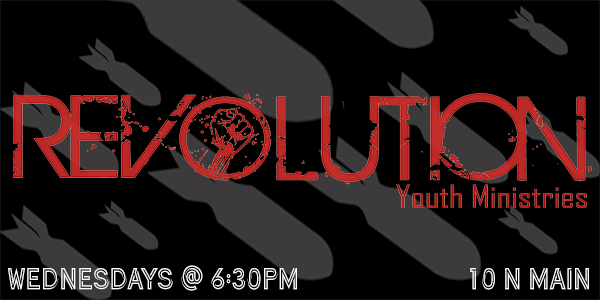 "Revolution Youth Ministry  meets every  Wednesday nights at 6:30pm . The whole night is geared just for teens age 13 – 19 years old, with live band, relevant messages, games, lights and prizes. Come early and grab a snack from the snack bar and have a great time. Always something going on in Revolution with weekly activities, trips, afterglows and ""Revolution Freestyle"". Come check out The Revolution!"