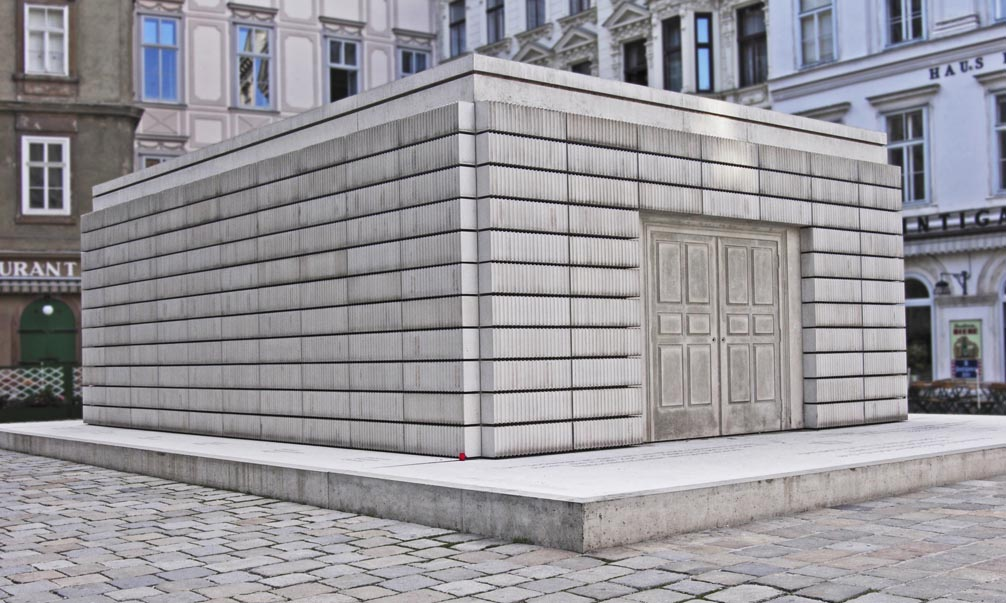 Shoa Memorial at the Judenplatz in Vienna