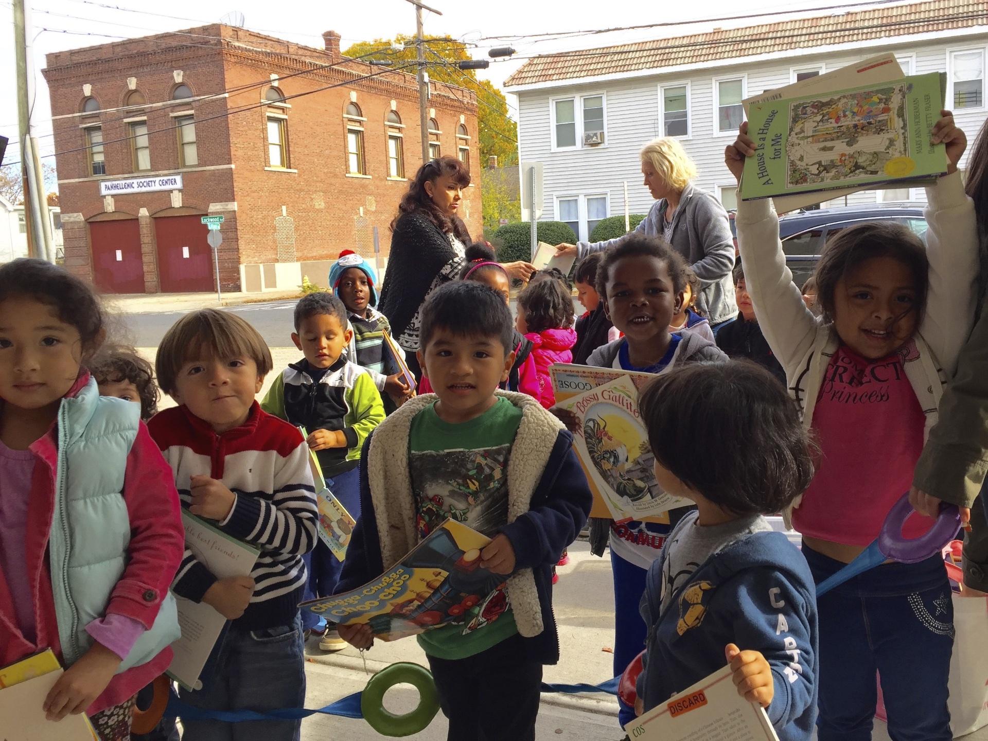 CLC's enthusiastic preschoolers love the books