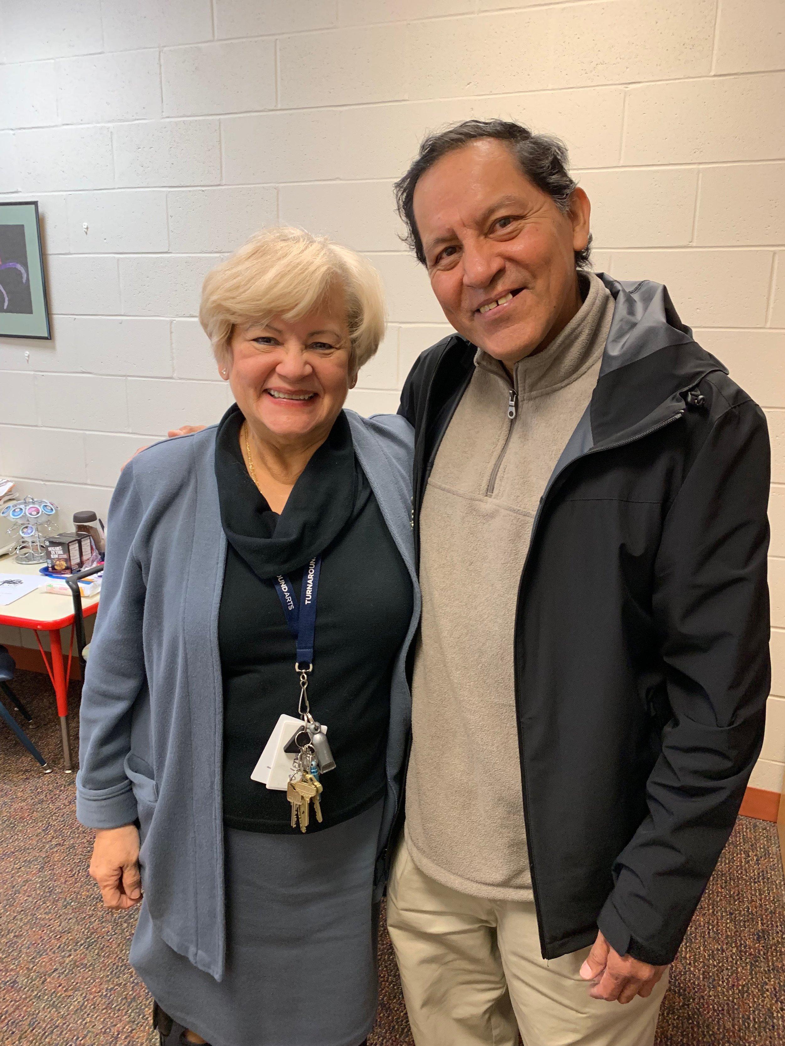 Barnum's Principal Marshall and Julio Reinoso